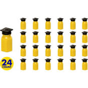 Grad Cap Yellow Bubbles 24ct