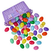 Fillable Easter Eggs in Basket 60ct<span class=messagesale><br><b>12¢ per piece!</b></br></span>