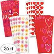 Valentines Day Stickers 36 Sheets<span class=messagesale><br><b>8¢ per sheet!</b></br></span>