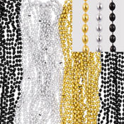 Black, Gold and Silver Bead Necklaces 50ct