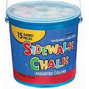 Sidewalk Chalk Bucket 15ct