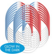 Red, White & Blue Glow Necklaces 22in 25ct80¢ per piece!