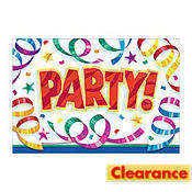 Party Streamers Happy Birthday Invitations 8ct