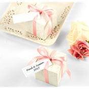 White Printable Wedding Favor Tags 120ct