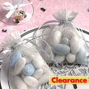 Silver Organza Wedding Favor Bags 12ct