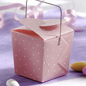 Pink Dot Mini Wedding Favor Pails 12ct