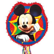 Pull String Mickey Mouse Pinata 18in