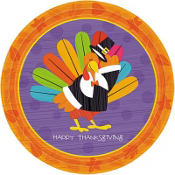 Fun Turkey Dessert Plates 8ct