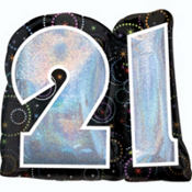Foil Radiant 21st Happy Birthday Balloon  27in