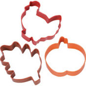 Fall Harvest Assorted Cookie Cutters 3ct