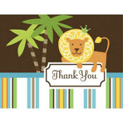 King of the Jungle Baby Shower Thank You Notes 8ct