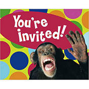 Monkey Around Invitations 8ct