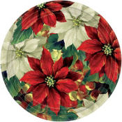 Regal Poinsettia Dessert Plates 8ct