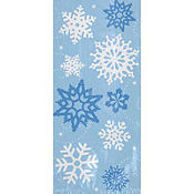 Snowflake Large Party Bags 11 1/2in x 5in 20ct