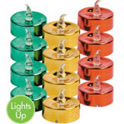 Battery Operated Sparkling Tealights 1 1/4in 12ct