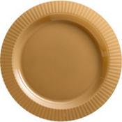 Gold Premium Plastic Dinner Plates 16ct
