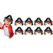 Pirate's Treasure Masks 8ct
