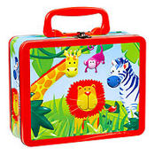 Jungle Animals Metal Box