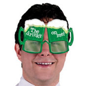 Green Beer Sunglasses
