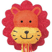 Pull String Lion Pinata 17in