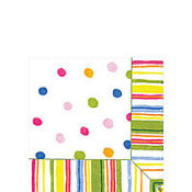 Smart Dots White Beverage Napkins 20ct
