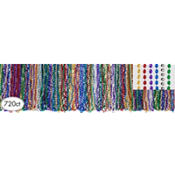 Assorted Mardi Gras Bead Necklaces 33in 720ct<span class=messagesale><br><b>8¢ per piece!</b></br></span>