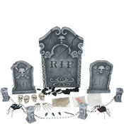 Halloween Graveyard Decorating Kit 27pc