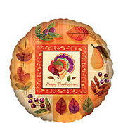 Foil Watercolor Turkey Balloon 18in