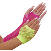 Neon Fishnet Glove