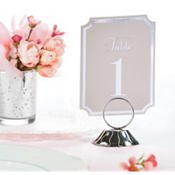 Silver Number or Place Card Holder