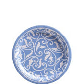 Pastel Blue Ornamental Scroll Dessert Plates 8ct