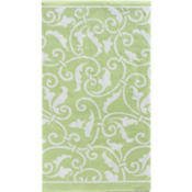 Leaf Green Ornamental Scroll Hand Towels 16ct