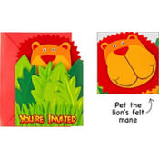 Jungle Animals Jumbo Invitations 8ct