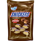 Milk Chocolate Snickers Minis 128ct