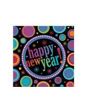 Modern New Year's Beverage Napkins 16ct