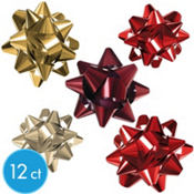 Red and Gold Bows 12ct