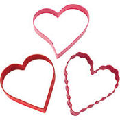 Heart Cookie Cutter Set 3ct
