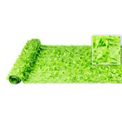 Lime Vinyl Floral Sheeting 15ft