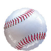 Baseball Foil Balloon 18in