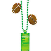 Football Whistle Necklace 10in