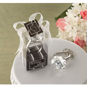 With This Ring Engagement Ring Keychain Wedding Favor