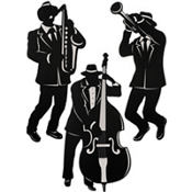 Jazz Musician Cutouts 18in 3ct
