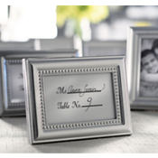 Beautifully Beaded Silver Photo Frame & Place Card Holder Wedding Favor