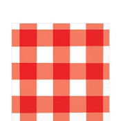 American Summer Red Gingham Lunch Napkins 16ct