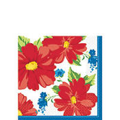 American Summer Floral Beverage Napkins 16ct