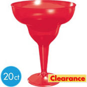 American Summer Red Plastic Margarita Glasses 8oz 20ct