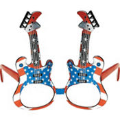 American Flag Guitar Glasses