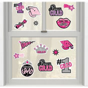 Princess Grad Vinyl Window Graduation Decorations 15ct