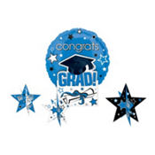 Royal Blue Congrats Grad Graduation Balloon Centerpiece 5pc