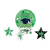 Green Congrats Grad Graduation Balloon Centerpiece 5pc